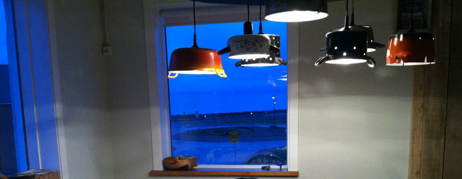 Kitchenware Chandelier :: Keflavik, Iceland